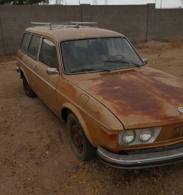 Buy Volkswagen: 1973 VW 412 SQUAREBACK BARN FIELD FIND AZ CAR VERY RARE