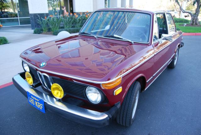 1974 BMW 2002TII CLEAN RUST FREE CALIFORNIA CAR ORIGINAL BLUE PLATE ...