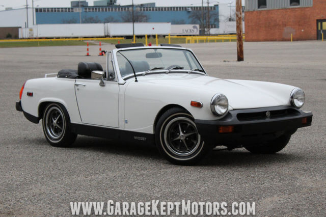 1976 MG Midget White Roadster 1500 CC 55639 Miles for sale