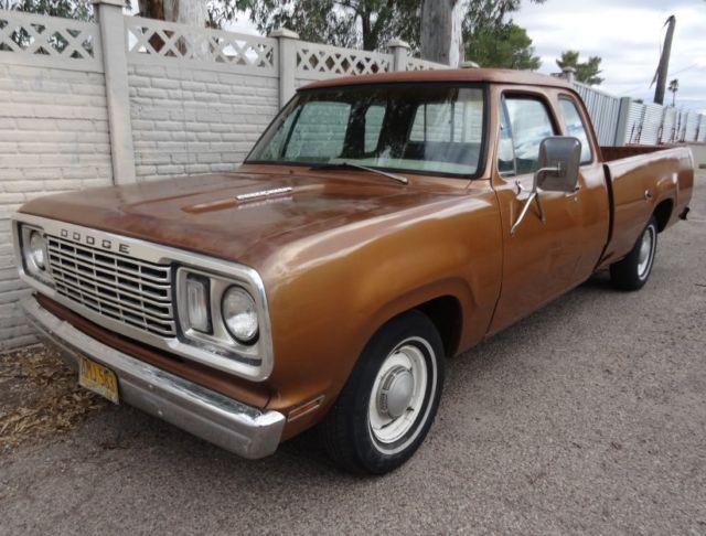 1977 dodge ram d100 club cab 2wd 318 4 spd power wagon hood rare survivor driver for sale in. Black Bedroom Furniture Sets. Home Design Ideas