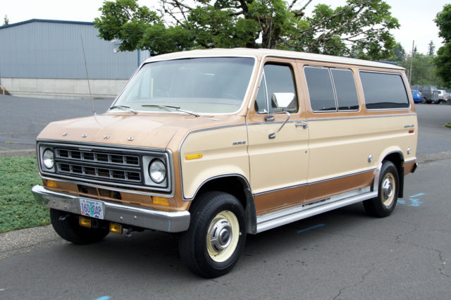 Big Valley Ford >> 1978 Ford Club Wagon Chateau E250 Van with Only 36,000 Original Miles !!! for sale in Happy ...