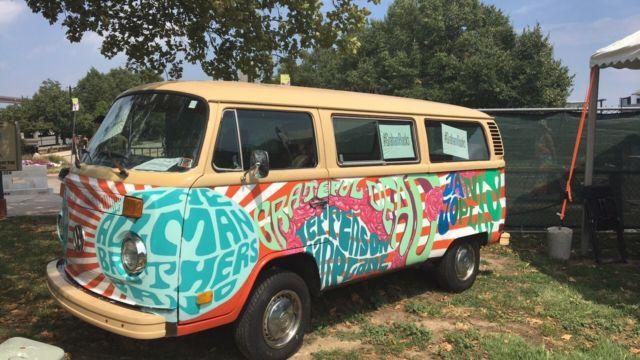 1979 vintage psychedelic vw bus retro hippie van for sale in philadelphia pennsylvania. Black Bedroom Furniture Sets. Home Design Ideas