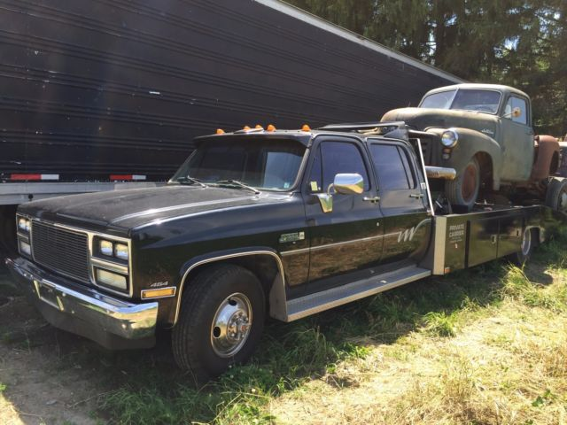 1980 gmc chevrolet car hauler hodges ramp truck square body crew cab for sale in bolton ontario. Black Bedroom Furniture Sets. Home Design Ideas