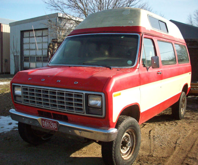 1982 FORD 4X4 PATHFINDER CONVERSION VAN E 250 CAMPER TOP