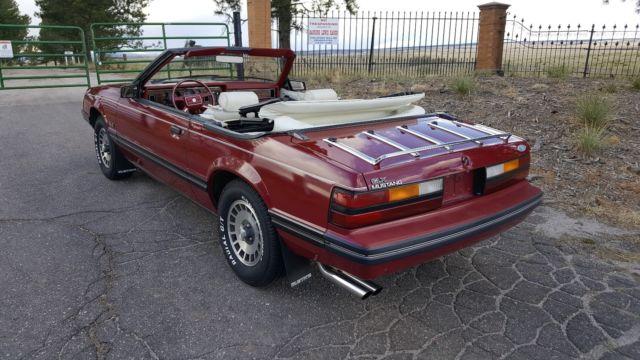 1983 mustang glx 5 0 convertible gt lx survivor 302 v8 4 speed 1 owner for sale in colorado. Black Bedroom Furniture Sets. Home Design Ideas