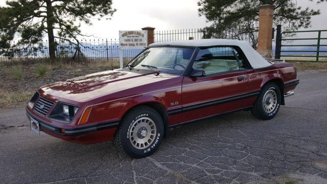 1983 mustang glx 5 0 convertible gt lx survivor amazing 1 owner 57k for sale in colorado springs. Black Bedroom Furniture Sets. Home Design Ideas