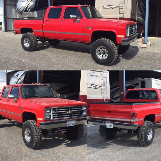 1984 Chevy Crew Cab Shortbed Cummins Conversion For Sale
