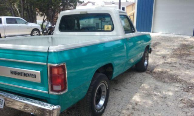 1984 Dodge D150 Prospector short bed pickup truck with V8