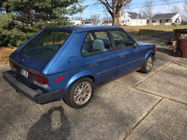 1985 dodge omni glh t santa fe blue turbo for sale in latonia kentucky united states. Black Bedroom Furniture Sets. Home Design Ideas
