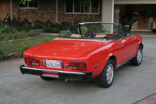 Fiat Pininfarina Spider Azzura Convertible California Rust Free