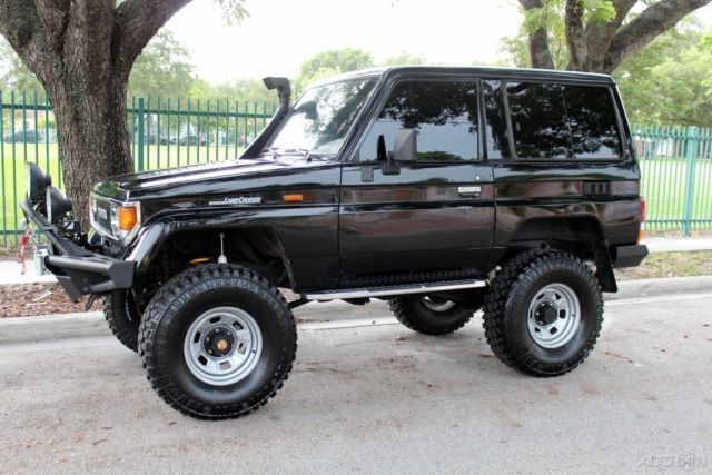 1987 toyota land cruiser lj 70 lifted 4cyl turbo diesel rust free for sale in miami florida. Black Bedroom Furniture Sets. Home Design Ideas