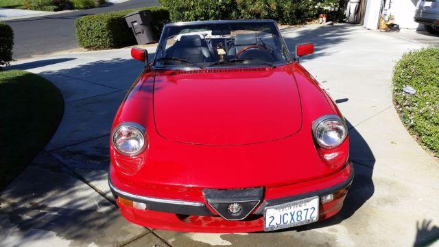 Alfa Romeo Spider Quadrifoglio Convertible Door L For Sale - 1988 alfa romeo spider for sale