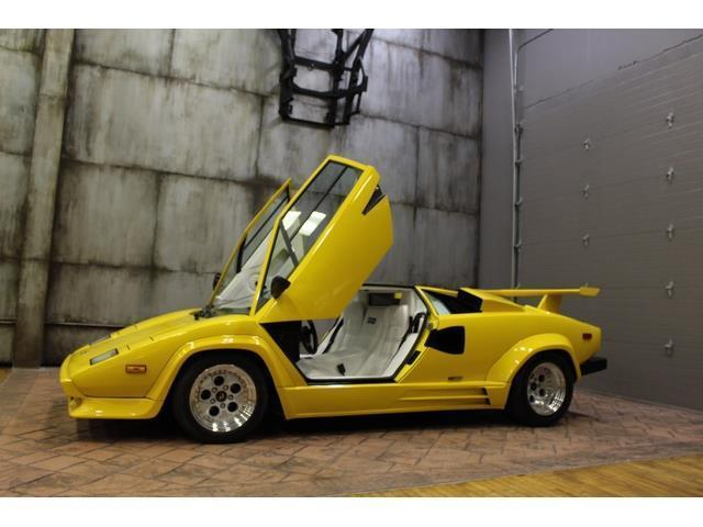 1988 lamborghini countach 13890 miles yellow 12 cylinder 5 speed manual for sale in local pick. Black Bedroom Furniture Sets. Home Design Ideas