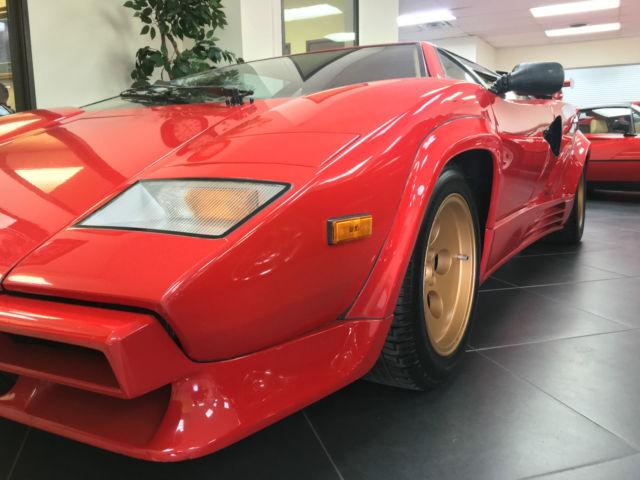 1988 Lamborghini Countach 5000 Quattrovalvole 29 556 Kilometers
