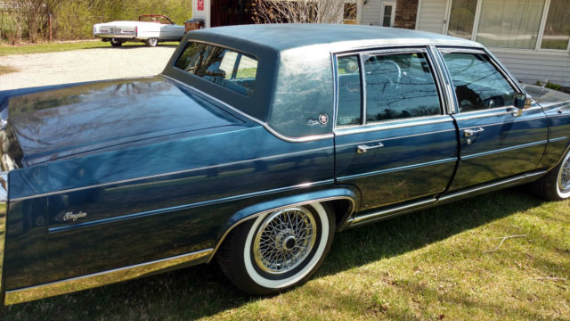 Cadillac Brougham Delegance Sedan Door L Beautiful Car No Reserve