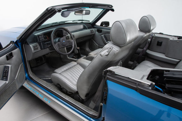 1989 Ford Mustang GT 8707 Miles Regatta Blue Convertible ...