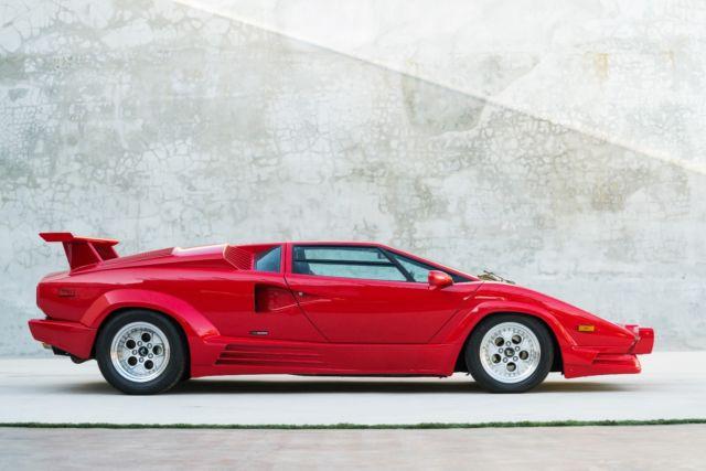 1989 Lamborghini Countach 25th Anniversary, Open MSO, 579 Original ...