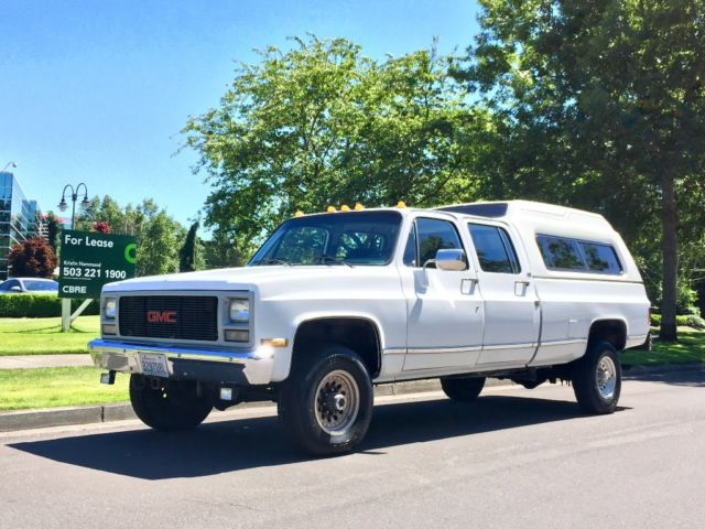 1990 GMC HIGH SIERRA 3500 CREWCAB CHEVROLET SILVERADO 454 ...