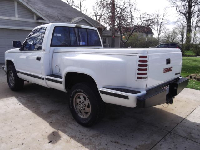 1990 gmc sierra sle k1500 stepside 4 wheel drive 350 v 8 chevrolet for sale in celina ohio. Black Bedroom Furniture Sets. Home Design Ideas