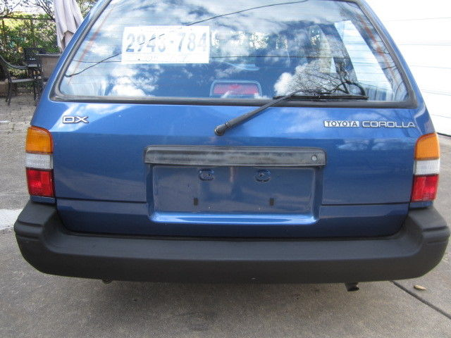 Bobby Rahal Toyota >> 1991 Toyota Corolla DX Wagon. 48,000 pampered rust free ...