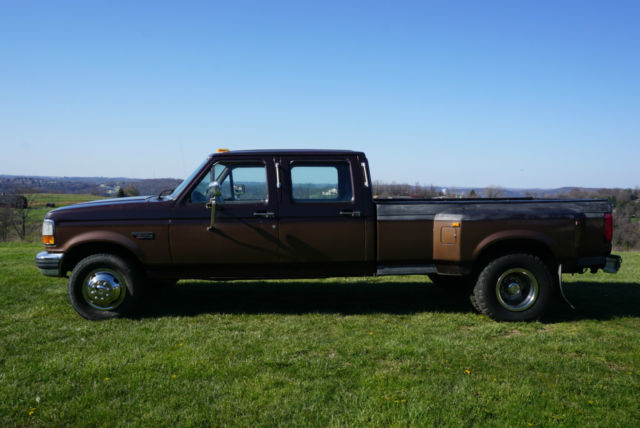 1992 Ford F350 Crew Cab 4 Door Dually Pickup Truck 7 3 Idi