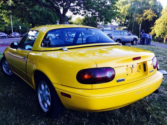 1992 Mazda Miata Sunburst Yellow Hardtop 73 5K Miles SBY