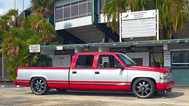 1994 Chevy crew cab 3500 lowered 22s/24s sema 454 big block