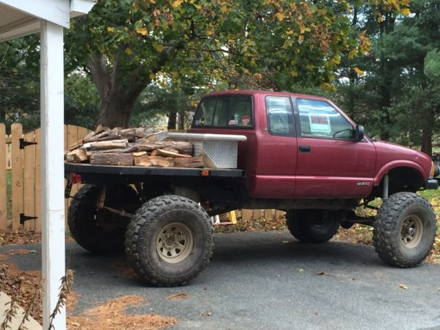 1994 chevy s10 straight axle crawler flatbed doubler locked 37s for
