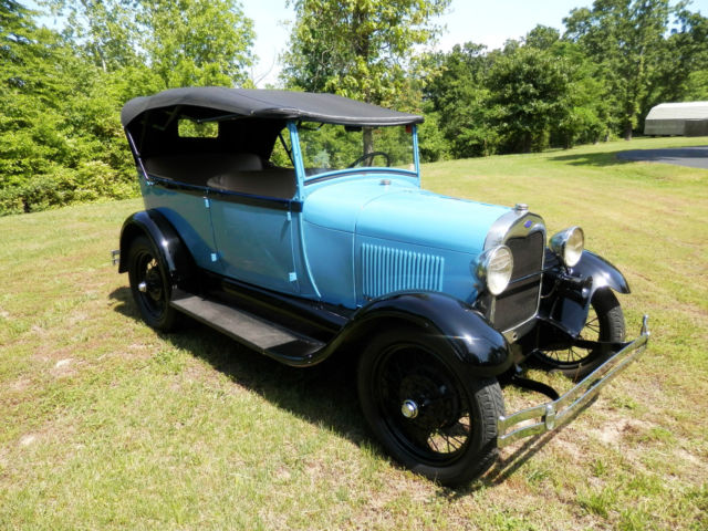 28 FORD MODEL A TOURING CAR CAME OUT OF MUSEUM CLASSIC CUSTOM STREET ...