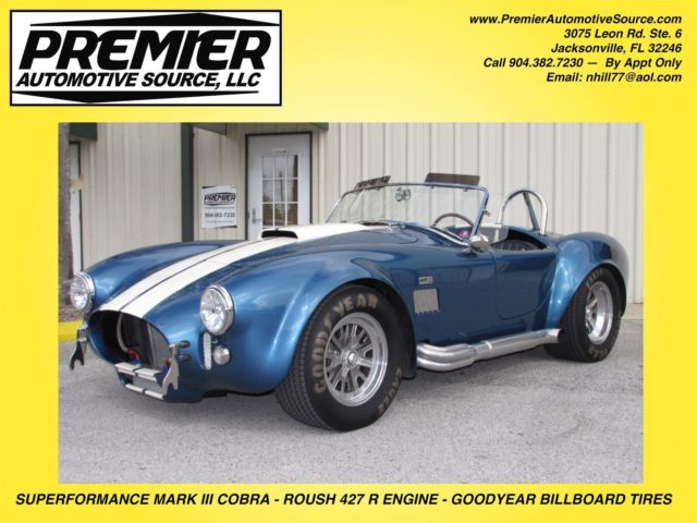 427 SUPERFORMANCE SHELBY COBRA MARK III ROUSH 427R TREMEC