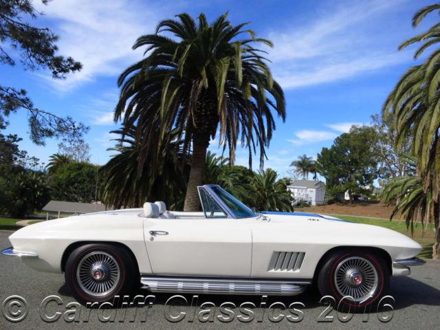 67 Corvette Roadster Matching S 427 435 4sp Ermine White