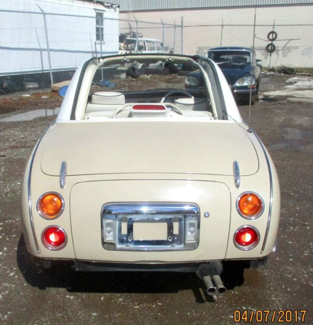 91 nissan figaro topaz mist 1 2000 made 47k km usa legal needs some tlc no rust for sale in. Black Bedroom Furniture Sets. Home Design Ideas