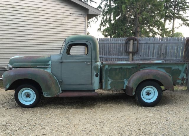 Barn Find 1947 International Kb2 Pickup Truck Patina Hot