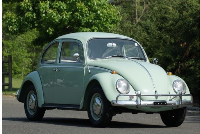 Beautiful Bahama Blue 1966 Classic Volkswagon Beetle For