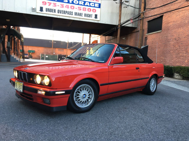 bmw e30 325i 1992 red convertible fully upgraded for sale in garfield new jersey united states. Black Bedroom Furniture Sets. Home Design Ideas