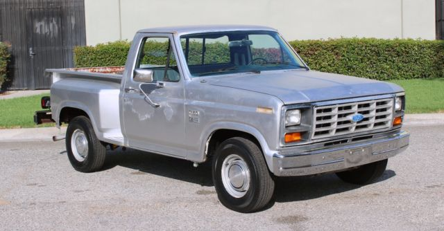 california 1984 ford f150 shortbed stepside cummins turbo diesel no reserve for sale in los. Black Bedroom Furniture Sets. Home Design Ideas