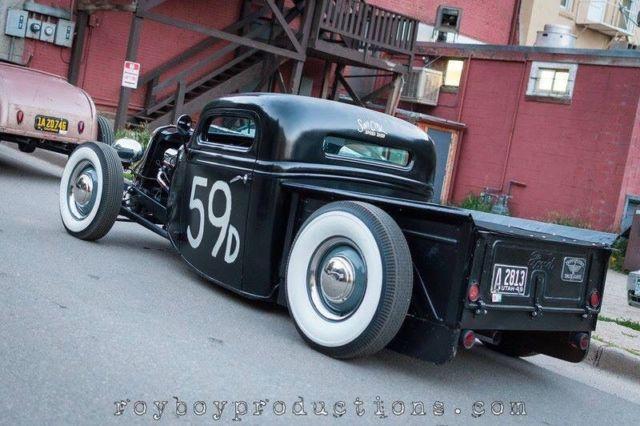 Ford 1936 Pickup Truck Hot Rod Rat Chopped Steel 32 34 35