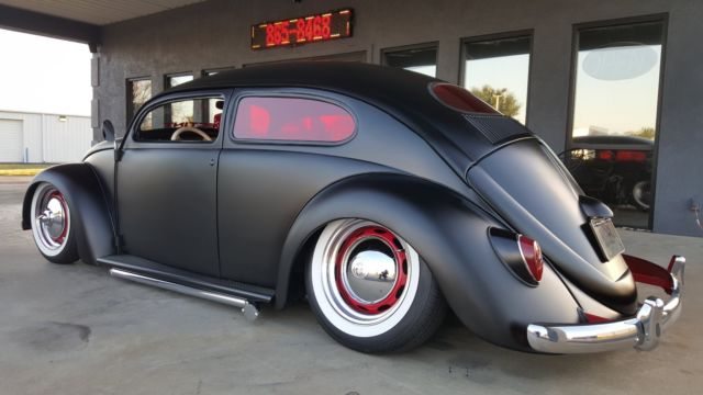 Full Custom 1966 Vw Beetle With Chopped 1956 Top Air Ride