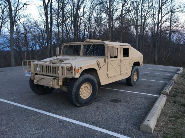 Hummer H1 1991 Am General Slant Back Humvee Hard Top Hmmwv
