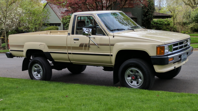 rare 1 owner 1986 toyota pickup 4wd reg cab only 83 796. Black Bedroom Furniture Sets. Home Design Ideas