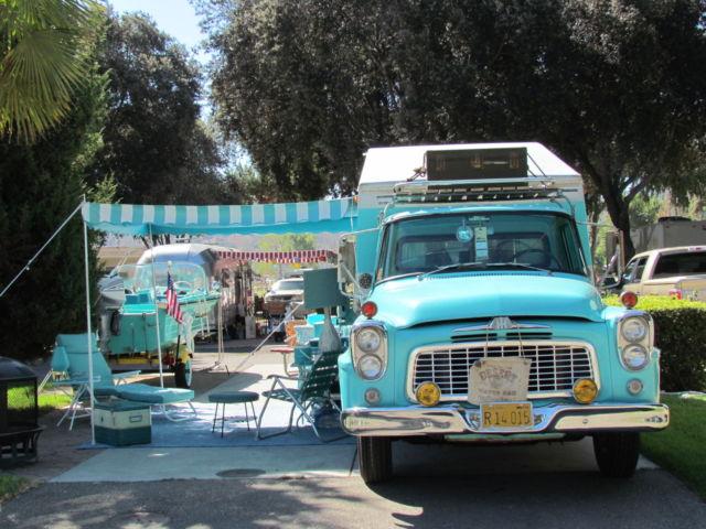 Rare 1960 International Harvester B110 Series Truck camper
