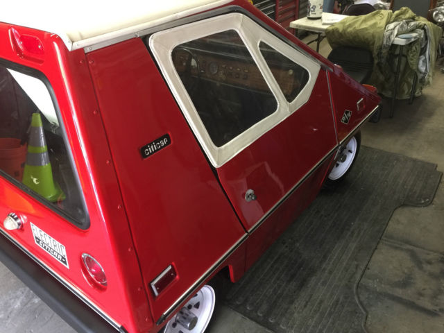 restored citicar electric car red w white top and interior 48v new batteries for sale in. Black Bedroom Furniture Sets. Home Design Ideas