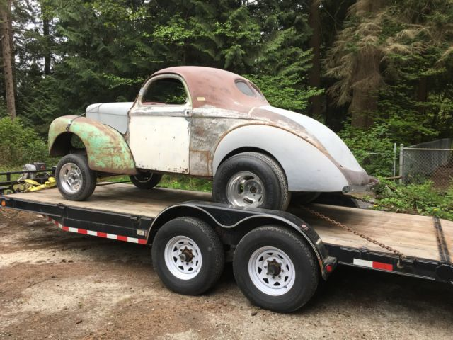 Steel Willys Coupe Project Gasser Hot Rod Rat Rod Original