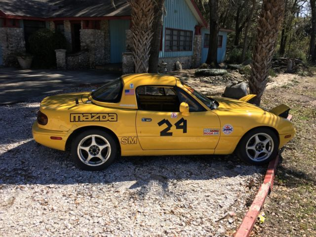 stock 94 mazda miata race car in very good condition with a bunch of spares for sale in lecanto. Black Bedroom Furniture Sets. Home Design Ideas