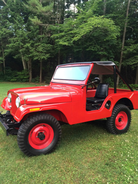 sweet 1957 jeep willys cj5 fire engine red for sale in north conway new hampshire united states. Black Bedroom Furniture Sets. Home Design Ideas