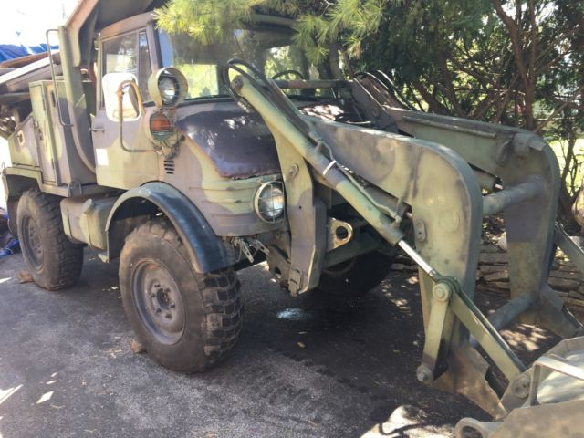 Unimog 419 EX US Military surplus SEE Tractor Backhoe FLU-419 SEE