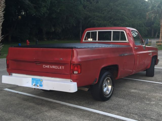 vintage square body chevy c10 longbed diesel half ton truck for sale in lake mary florida. Black Bedroom Furniture Sets. Home Design Ideas