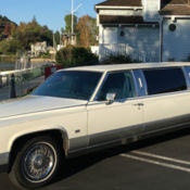 1987 CADILLAC BROUGHAM ARMBRUSTER STAGEWAY EMBASSY LIMOUSINE